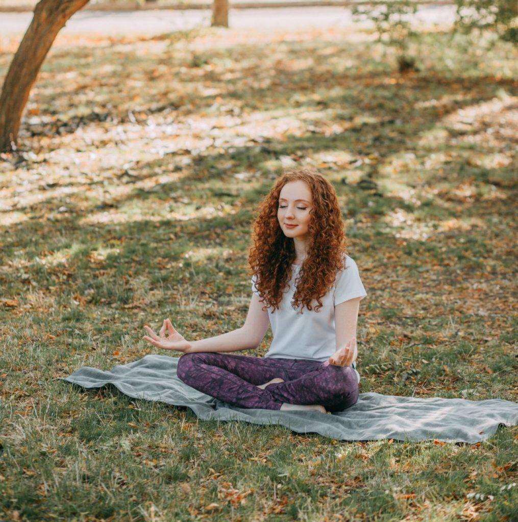 meditation, meditation in nature, nature, yoga